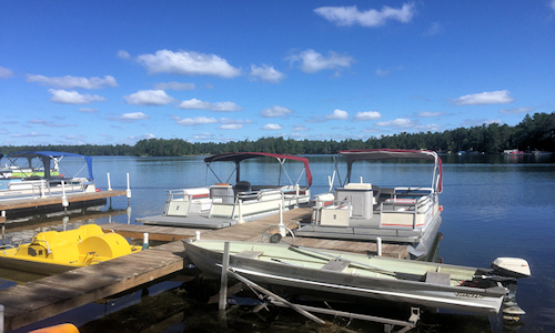 Clear Lake West Branch Michigan Boat Rental On Site!500