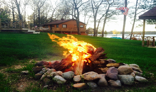 Bon Fire Area on the Resort Grounds for Cabins 1 - 6