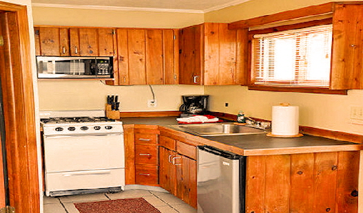 Clear Lake Resort Lake Front Rental Cabin Six Kitchen