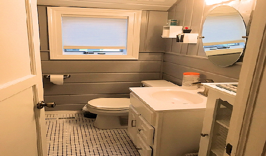 Lake Home Cabin Eleven Lower Level half Bathroom One