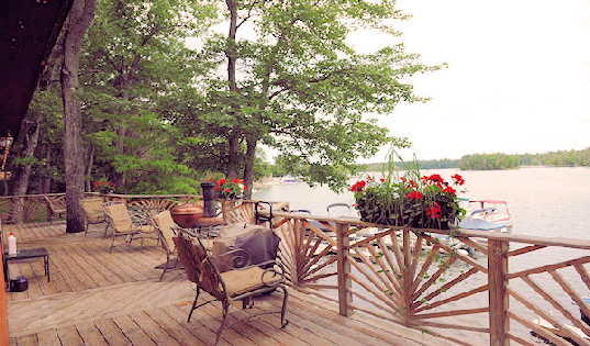 Lake House Cabin One Back Deck