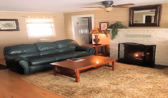 Rental Lake House Cabin One Living Room with Queen Sofa Bed